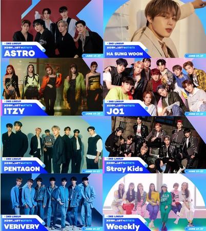 『 KCON:TACT 4 U 』ASTRO、HA SUNG WOON、ITZY、JO1、PENTAGON、 Stray Kids等豪華キャスト