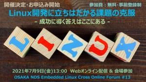 Osaka NDS Embedded Cross Online Forum #13
