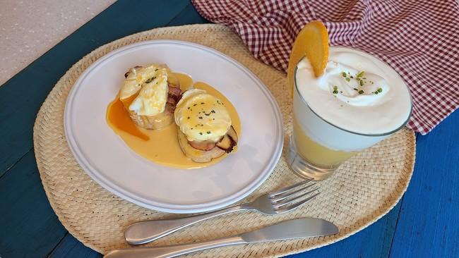 【オンラインクッキング】エッグベネディクトとチーズケーキドリンク