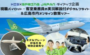 現職パイロット・客室乗務員の実況解説付デジタルフライト&広島市内オンライン散策ツアー
