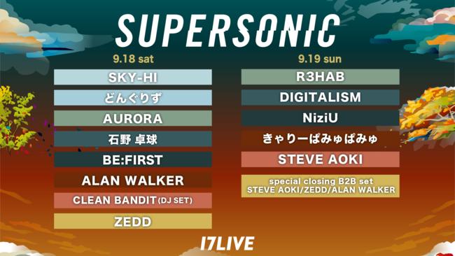 初の日本最大級野外フェス配信「SUPERSONIC 2021 on 17LIVE」